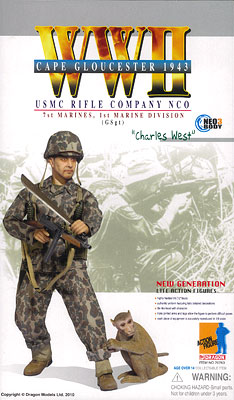 "1/6 WW.II アメリカ海兵隊 第1海兵師団 第7海兵連隊 ライフル中隊 軍曹""チャールズ・ウェスト"""