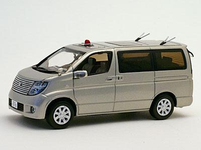 完成品モデルカー 1/43 日産 エルグランド 2008 神奈川県警察 交通部交通捜査課暴走族対策室車両[ヒコセブン]《在庫切れ》