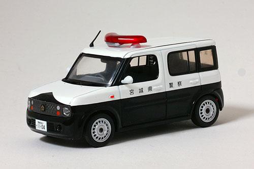 完成品モデルカー 1/43 日産 キューブ 1.5 2005 宮城県警察所轄署警ら車両[ヒコセブン]《在庫切れ》