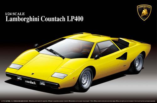 1/24 スーパーカー No.01 ランボルギーニ カウンタックLP400 プラモデル(再販)[アオシマ]《発売済・在庫品》