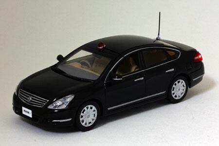完成品モデルカー 1/43 日産 ティアナ 250XE 2009 警視庁所轄指揮車両(ブラック)[ヒコセブン]《在庫切れ》