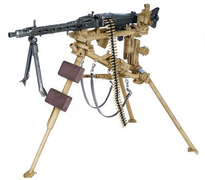 1/6 WW.II ドイツ軍 MG42機関銃 w/専用三脚(ラフェッテ) プラモデル