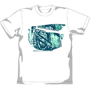 攻殻機動隊S.A.C. 笑い男ウォールペイントTシャツ/ホワイト-S(再販)[コスパ]《在庫切れ》