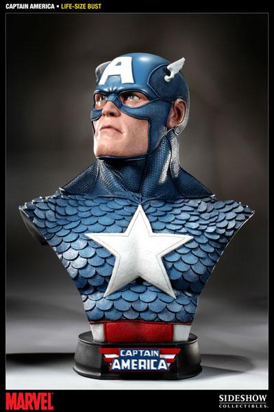 ライフサイズバスト コミック版 キャプテン・アメリカ 単品[サイドショウ]【同梱不可】《在庫切れ》