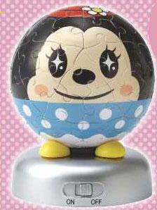 ジグソー 光る球体パズル パズランタン ミニーマウス 60ピース(2003-401)[やのまん]《在庫切れ》