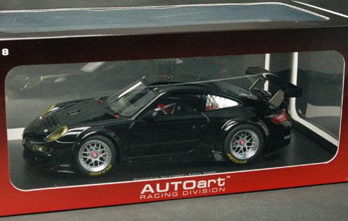 ダイキャスト・モデルカー 1/18 ポルシェ911(997)GT3SR 2009 プレーンボディ(ブラック)[オートアート]《取り寄せ※暫定》