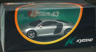 スロットカー Dslot43 1/43 アウディ R8(シルバー)[京商]《在庫切れ》