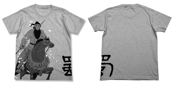 三国志 関羽と赤兎馬Tシャツ/ヘザーグレー-XL(再販)[コスパ]《02月予約》