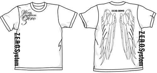 新機動戦記ガンダムW ウイングガンダムゼロTシャツ/ホワイト-XL(再販)[コスパ]《在庫切れ》