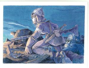 スタジオジブリ 風の谷のナウシカ グリーティングカード 水彩画シリーズ[ムービック]《在庫切れ》