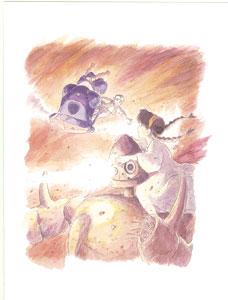 スタジオジブリ 天空の城ラピュタ グリーティングカード 水彩画シリーズ[ムービック]《在庫切れ》
