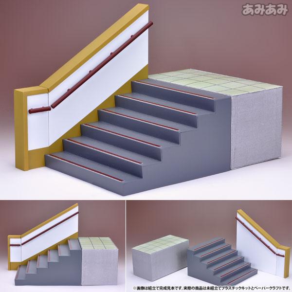 AmiAmi [Character U0026 Hobby Shop] | 1/12 Figure Scenery Set Series   School Staircase  Plastic Model Kit(Released)
