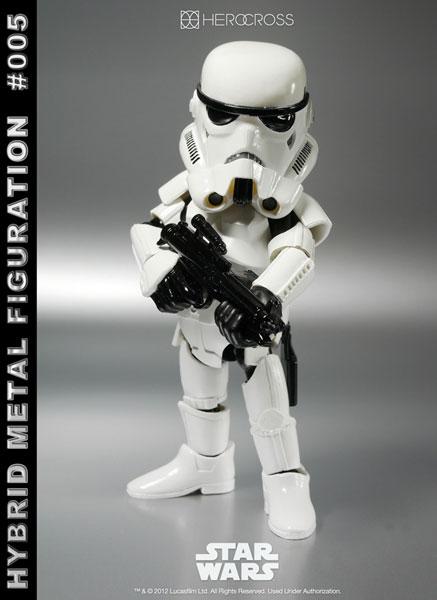 【中古】(本体B/箱B)ハイブリッド・メタル・フィギュレーション #005 スター・ウォーズ ストームトルーパー 単品[ヒーロークロス]《発売済・在庫品》