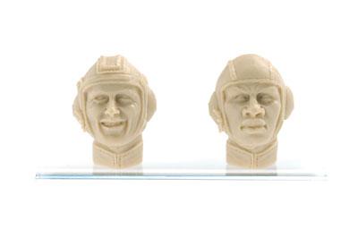 マシーネンクリーガー 1/20 傭兵軍 男性ヘッドパーツ 『ガルシア軍曹&ビッグマン上等兵』 未塗装組立キット[ブリックワークス]《在庫切れ》