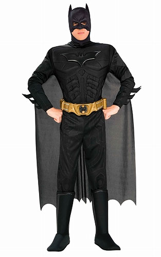 バットマン ダークナイト/ アダルト デラックス バットマン ダークナイト L 880671L[ルービーズ]《在庫切れ》