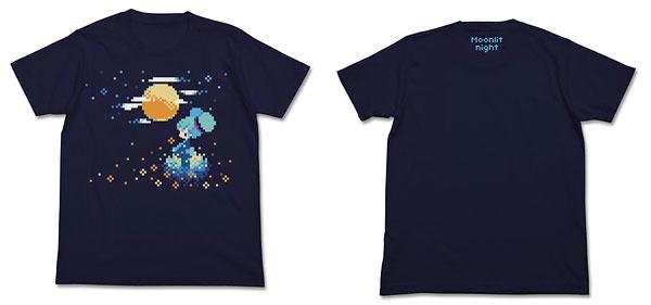 初音ミク ぷちでびるver. 月明かりTシャツ/ネイビー-S(再販)[コスパ]《04月予約》