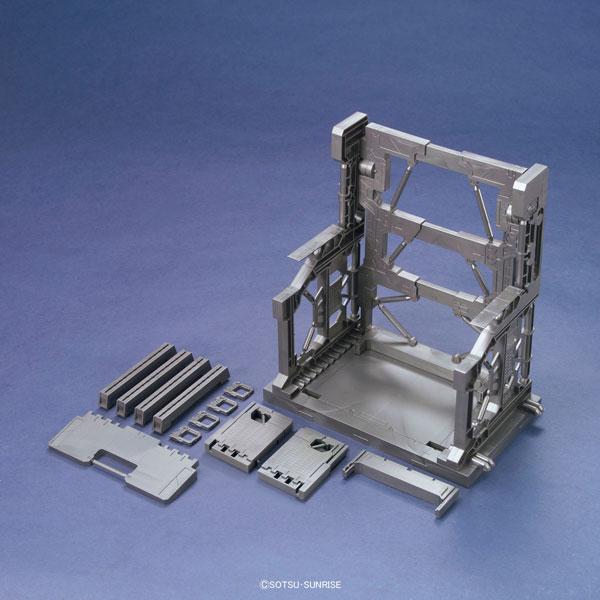 ビルダーズパーツ システムベース 001(ガンメタ) プラモデル(再販)[バンダイ]《発売済・在庫品》