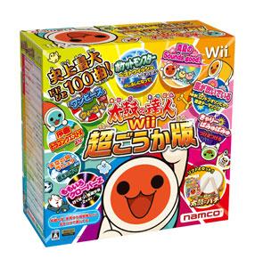 Wii 太鼓の達人Wii 超ごうか版 コントローラー「太鼓とバチ」同梱版(再販)[バンダイナムコゲームス]《在庫切れ》