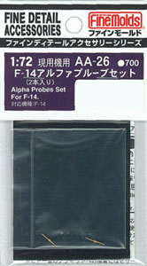 AA26 航空機用アクセサリーパーツ 1/72 F-14アルファプルーブセット(2本入)(再販)[ファインモールド]《取り寄せ※暫定》