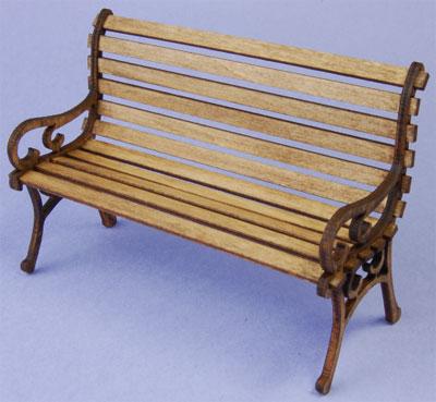 木製組立キット 1/12 公園のベンチ[コバアニ模型工房]《在庫切れ》
