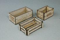 木製組立キット 1/12 ウッデンボックス 3アイテム[コバアニ模型工房]《在庫切れ》