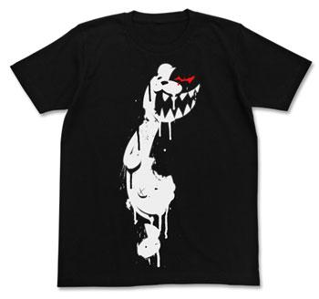 ダンガンロンパ 希望の学園と絶望の高校生 THE ANIMATION モノクマ ステンシル Tシャツ/ブラック-L(再販)[コスパ]《在庫切れ》