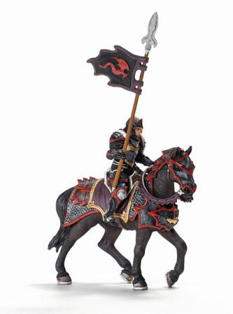 schleich -ワールド・オブ・ナイト- 70102 ドラゴン・ナイト(馬・槍)