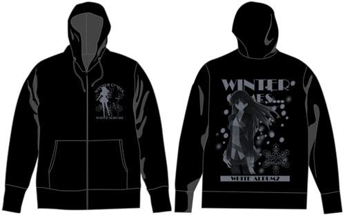 WHITE ALBUM2 冬馬かずさ パーカー/ブラック-M(再販)[コスパ]《在庫切れ》
