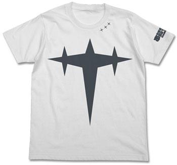 キルラキル 本能字学園極制服 三つ星Tシャツ/ホワイト-XL