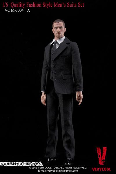 Very Cool 1/6 クオリティ ファッションスタイル メンズスーツセット ブラック(ドール用衣装)[Very Cool]《在庫切れ》