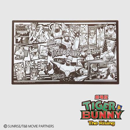 劇場版 TIGER&BUNNY(タイガー&バニー) The Rising アメコミ風フレキシブルラバーマット アニメ・キャラクターグッズ新作情報・予約開始速報