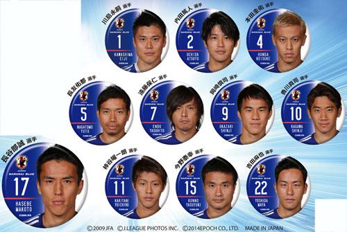 サッカー日本代表チームモデル トレーディング缶バッジ 24個入りBOX[エポック]《在庫切れ》