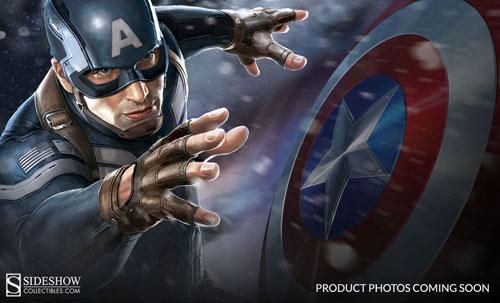 マーベル キャプテン・アメリカ ウィンター・ソルジャー 1/4スケールプレミアムフィギュア キャプテン・アメリカ[サイドショウ]《在庫切れ》