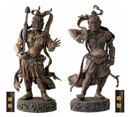 マイスター・ジャパンの仏像美術館 金剛力士像・阿形 吽形2体セット