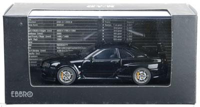 1/43 ニッサン スカイライン GT-R R34 VスペックII ブラック[EBBRO]《取り寄せ※暫定》
