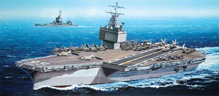 グリーンボックス 1/700 アメリカ海軍原子力空母 U.S.S.エンタープライズCVN-65(1969年) プラモデル[サイバーホビー]《在庫切れ》