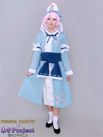 東方Project コスプレ衣装 西行寺幽々子 女性用 XS(再販)[アニマック]《08月予約》