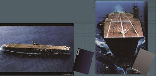 着彩写真軍艦 クリアファイルセット・航空母艦 赤城(2枚入り)[タカラトミーアーツ]《在庫切れ》