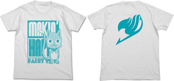 FAIRY TAIL (フェアリーテイル) ハッピーTシャツ/ホワイト-XL(再販)[コスパ]《在庫切れ》
