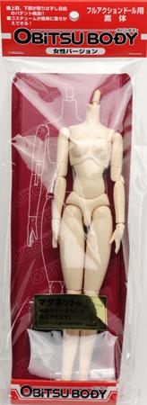 27cmオビツボディ 女性 ノーマルタイプ ホワイティ マグネット付き