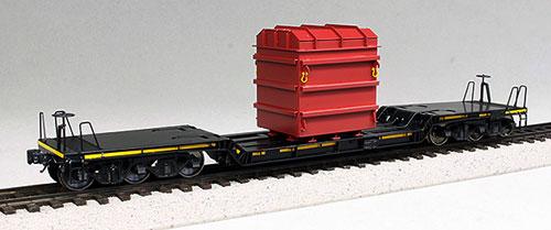 HO 1/87 12mm 国鉄 シキ 550形 大物車 タイプB 塗装済完成品[ワールド工芸]《在庫切れ》