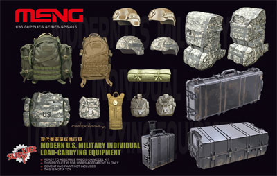 1/35 現用アメリカ軍個人装備携行品[MENG Model]《取り寄せ※暫定》