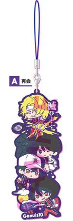 新テニスの王子様 わちゃっと!ラバーストラップ Vol.1 A.再会(再販)[ソル・インターナショナル]《在庫切れ》