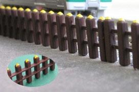 2503 着色済みストラクチャーキット 鉄路柵(古枕木)(再販)[グリーンマックス]《発売済・在庫品》