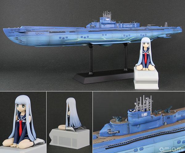 1/350 蒼き鋼のアルペジオ -アルス・ノヴァ- 潜水艦 イ401 with イオナ 塗装済み完成品