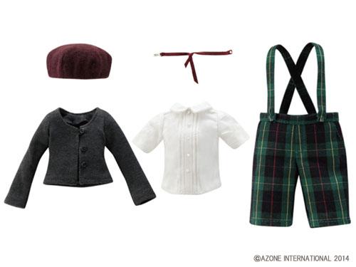 ピュアニーモXSサイズ PNXS聖ポートルダム初等部 男の子制服セット リーフグリーンチェック(ドール用衣装)