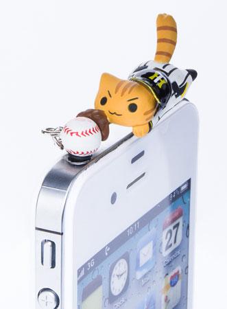 飛びつき野球にゃんこ(阪神)[ピンクカンパニー]《取り寄せ※暫定》