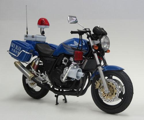 1/12 ネイキッドバイク No.SP ホンダ CB400 SUPER FOUR「大阪府警 スカイブルー隊 [青バイ]」 プラモデル[アオシマ]《在庫切れ》