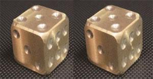 カードアクセサリコレクション ダイスパラダイス メタルダイス 真鍮6面体セット[ホビーベース]《在庫切れ》