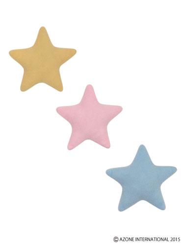 ピュアニーモサイズ ぐっすりお星さまクッションセット(3色各1個、計3個入り) イエロー、ピンク、ライトブルー(ドール用小物)[アゾン]《在庫切れ》